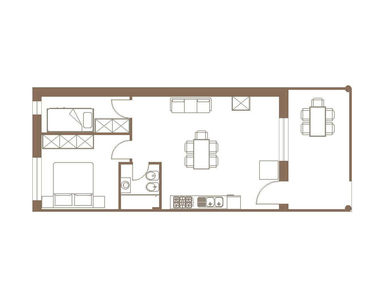 Three-room Ground Floor